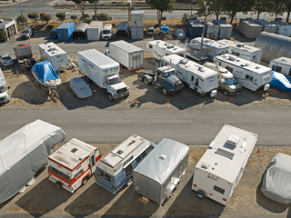 RV motorhome, boat, truck, outdoor storage facility