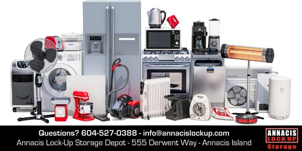 household appliance storage long term